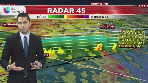Las lluvias se alejan de Houston y se desplazan hacia el norte
