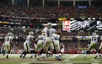 Los New Orleans Saints vencieron 20-17 Aa Atlanta Falcons en lo que pudo...