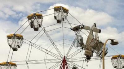 Varios testigos indicaron que la rueda de la fortuna estaba llena de chi...