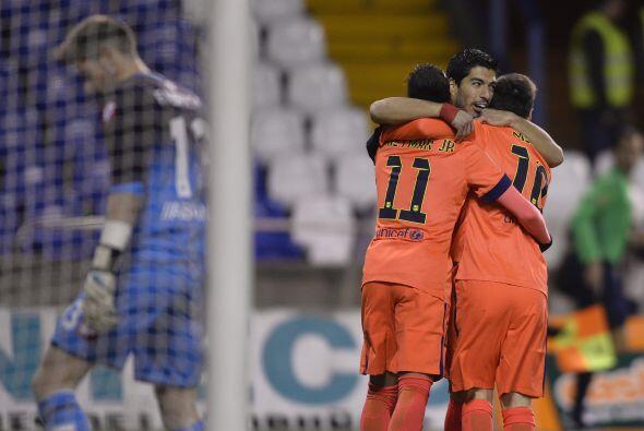 Lionel Messi abrió el marcador al minuto 10 de arrancado, el 10 de Barce...