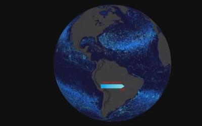 Así se ven los parches de basura en el océano