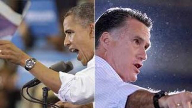 El presidente de Estados Unidos, Barack Obama, y el candidato presidenci...