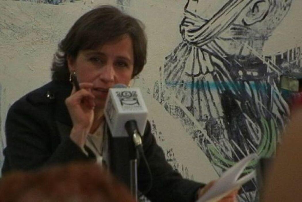 La reportera mexicana Carmen Aristegui afirmó este miércoles que ella ja...