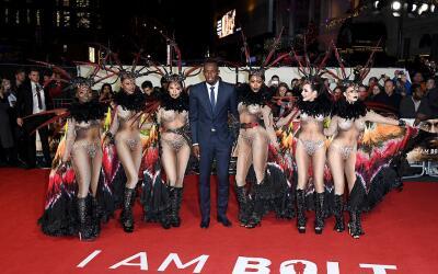 Usain Bolt en la presentación de su película documental, 'Yo soy Bol...