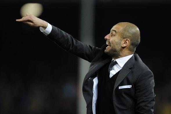Josep Guardiola, técnico del Barça, insistía a sus...
