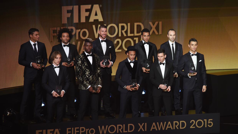 Anuncian el 11 ideal del 2015 para FIFA