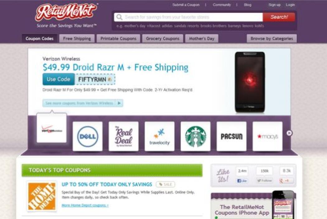 RetailMeNot  Uno de los sitios favoritos de cupones tiene una aplicación...