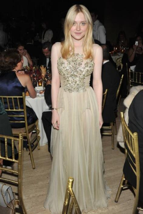 Dakota en una cena a beneficio, en abril de 2012.   Aquí los videos más...