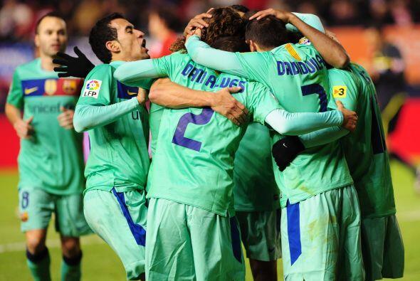 El Barcelona despachó al Osasuna. Le ganó 3 a 0 y volvi&oa...
