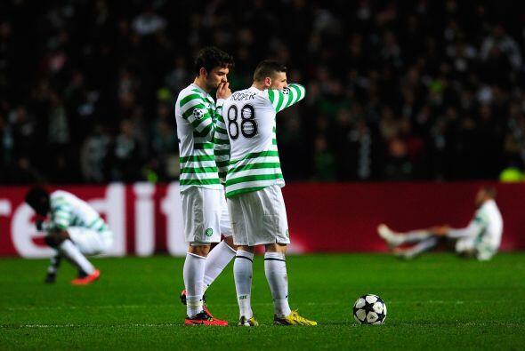 Incredulidad e impotencia entre el plantel del Celtic.