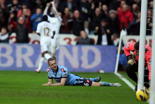 El Swansea gana 3-1 y aun había más.