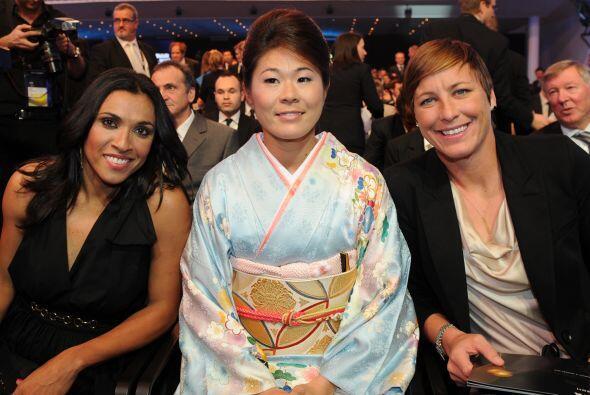 Además de Homare Sawa, estaban nominadas la brasileña Marta y la estadou...