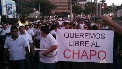 Marchas en Sinaloa para pedir la liberación del El Chapo