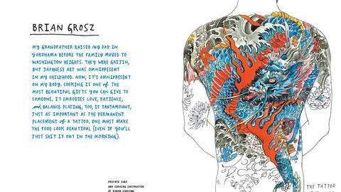 La ilustración del tatuaje del chef Brian Grosz