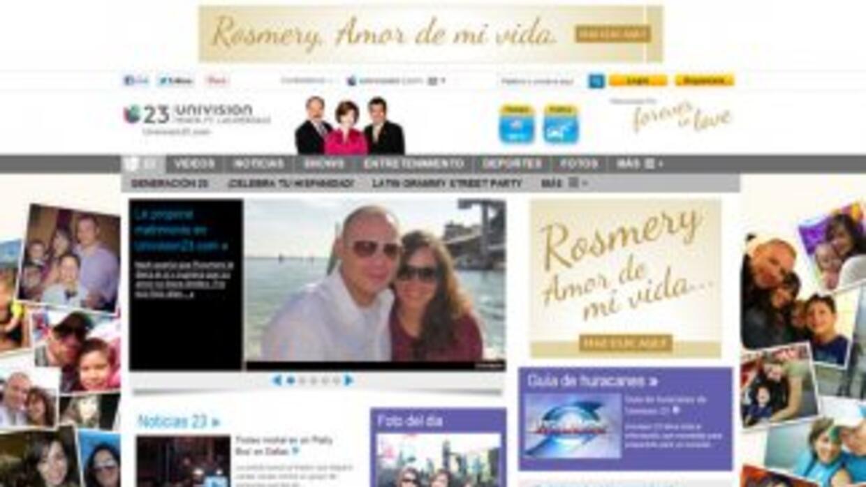 Hombre propone matrimonio a su novia a través de Univision23.com