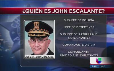 ¿Quién es John Escalante? Nuevo superintendente interino de la policía