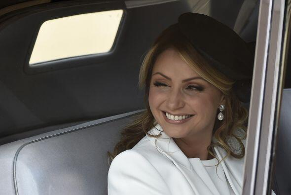La actriz de telenovelas se sintió como en un cuento de hadas.