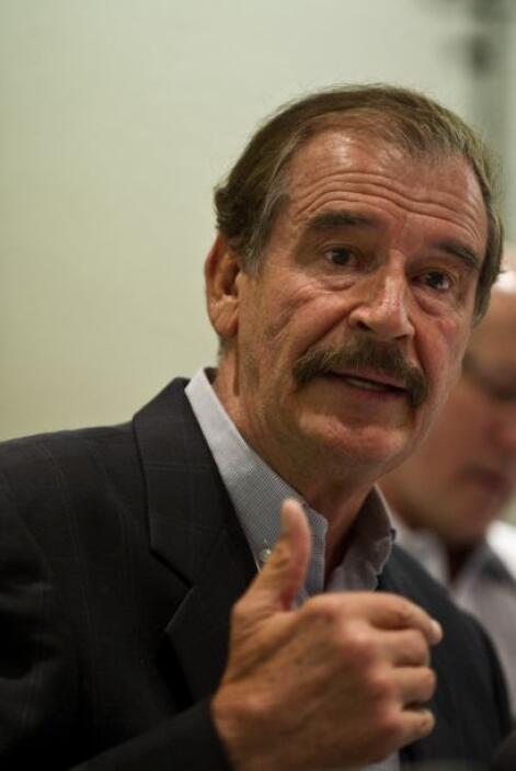Como prueba de su disgusto, el entonces presidente de  México, Vicente F...