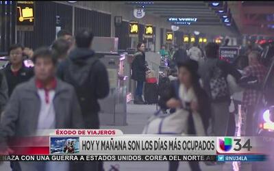 LAX espera a millones de viajeros hoy y mañana