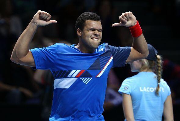 El francés había puesto en aprietos al suizo Roger Federer...