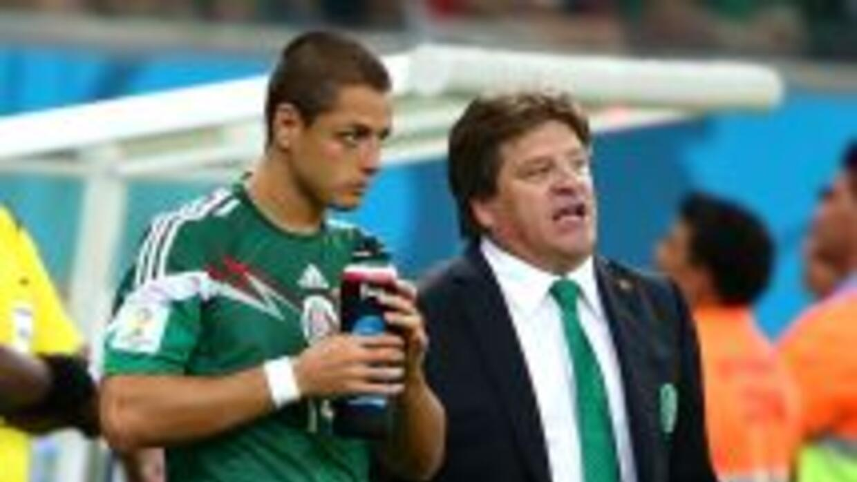 Herrera y Hernández en el Mundial 2014.