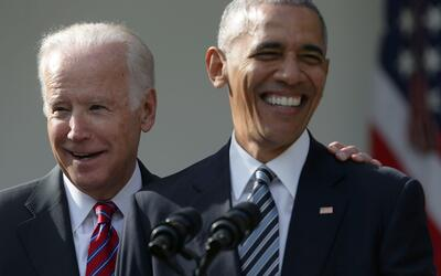 El Vicepresidente Joe Biden y el Presidente Barack Obama.