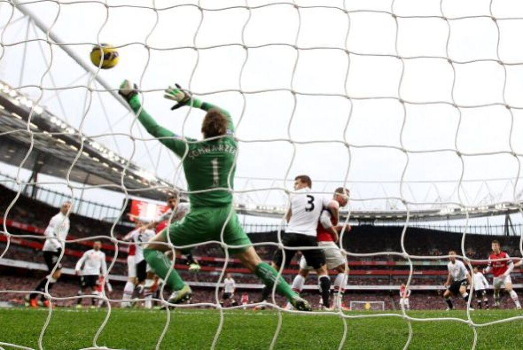 Giroud anotó el empate para el Arsenal.