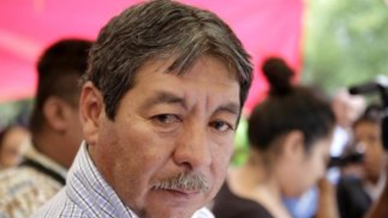 El líder de la Coordinadora Nacional de Trabajadores de la Educación (CN...