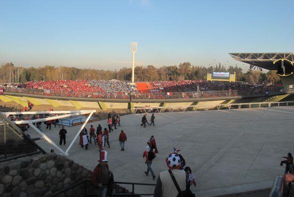Imagen parcial del estadio Malvinas Argentinas, más de 40 mil per...