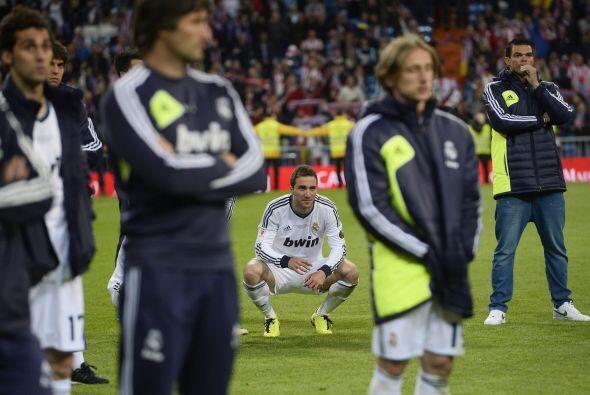 Los jugadores del Madrid veían escépticos el júbilo...