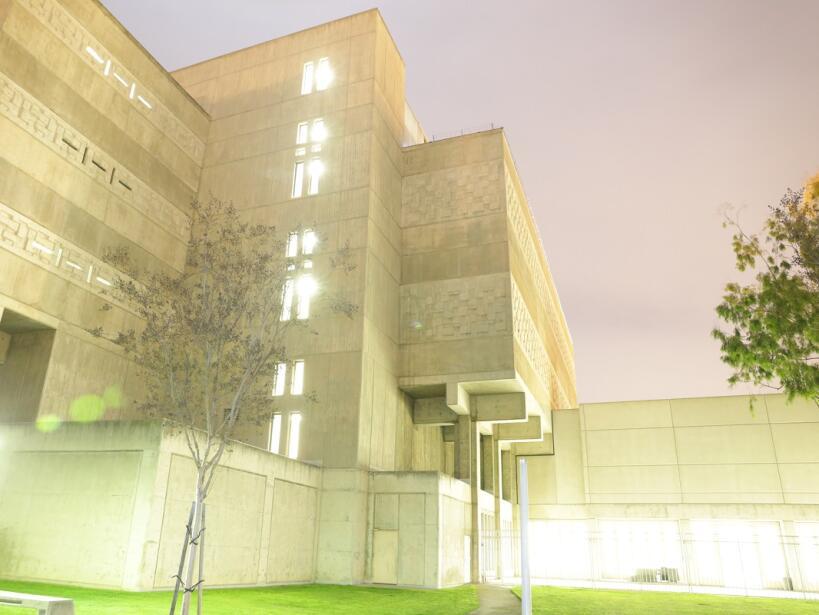 Exterior de la cárcel de hombres de la que escaparon los fugitivos