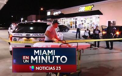 'Miami en un Minuto': una persona resultó herida en la cabeza por un hom...
