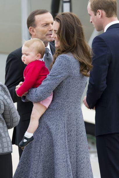 La familia real estuvo de visita en Australia en la semana, como parte d...