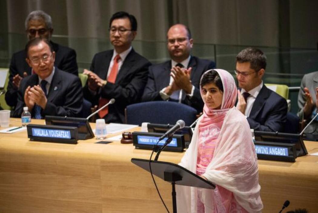 El viernes pasado Malala hizo en la ONU un ferviente llamamiento en favo...