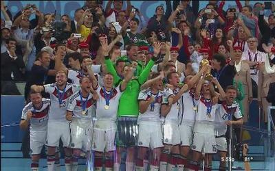 Alemania se convierte en tetracampeón del mundo tras ganarle a Argentina...