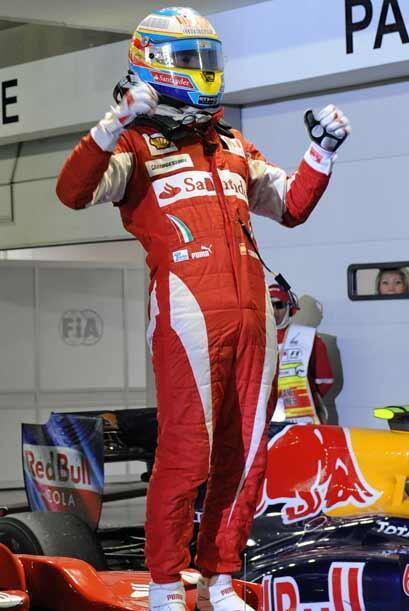 Esta fue la segunda victoria consecutiva para Alonso, después de...