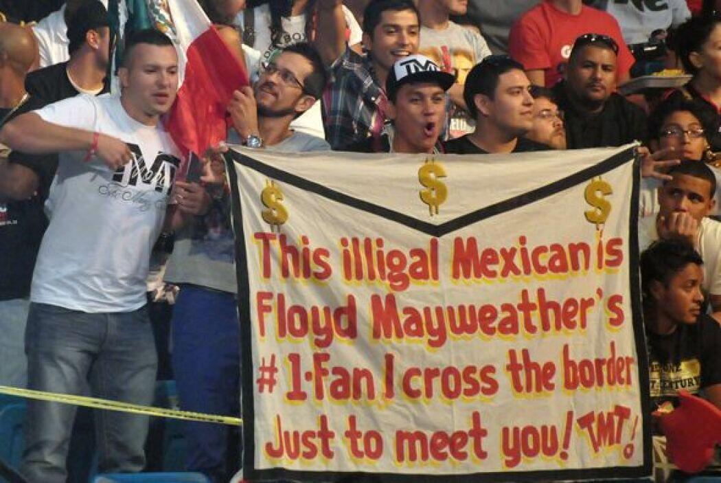Y seguidores de Floyd Mayweather Jr.