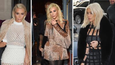 Kim Kardashian demuestra que las rubias se divierten más