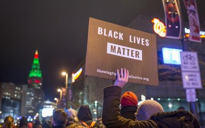 Latinos joined an effort to encourage their community to support Black L...
