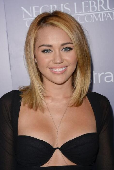 Después notamos que entre más grande Miley, más pequeños eran sus cortes...