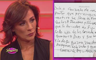 Consuelo Duval no pudo contener las lágrimas cuando leímos una carta que...
