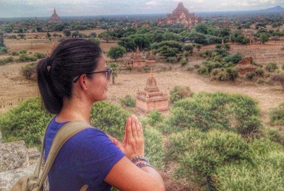 Ana disfrutando de la paz de este bello lugar. (Junio 14, 2014)