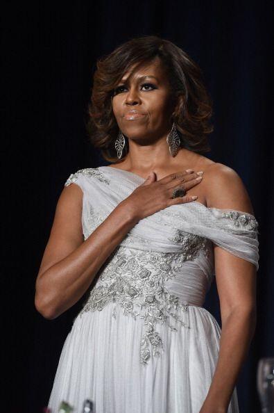 La primera dama lució sobria y sofisticada.