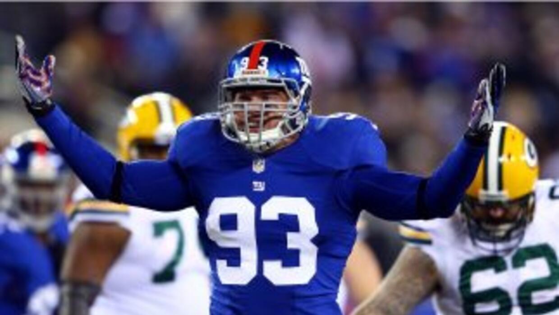 Chase Blackburn fue campeón con los Giants en el Super Bowl XLVI.