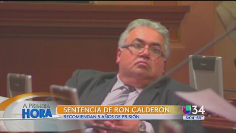 Recomiendan prisión para el exsenador Ron Calderón