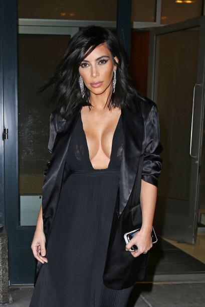 OMG! Kim, te vas a resfriar.