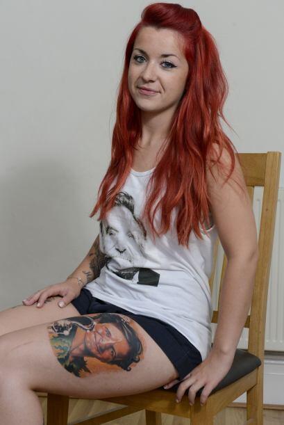 Haley Paterson de 23 años siempre había querido un tatuaje de su ídolo,...
