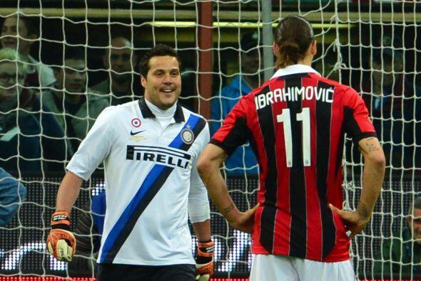 El guardameta del Inter de Milán vivió de todo en el 'derb...