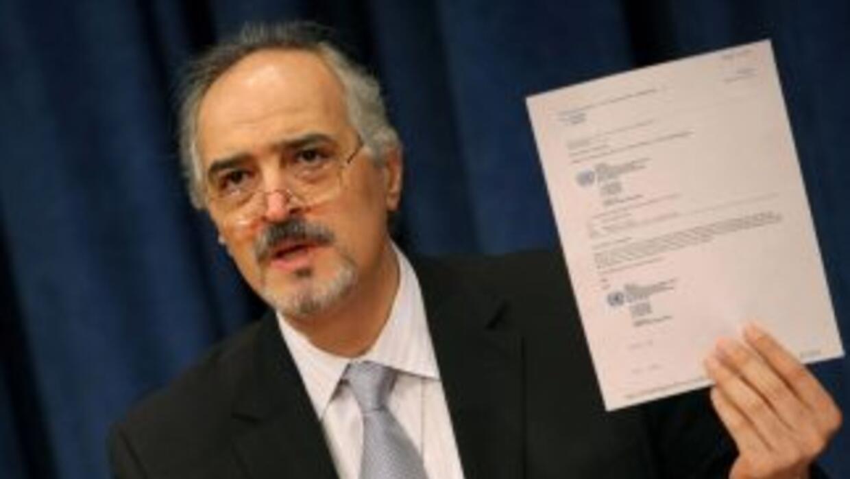 Bashar Jaafari, embajador de Siria ante la ONU, acusó a los gobiernos de...