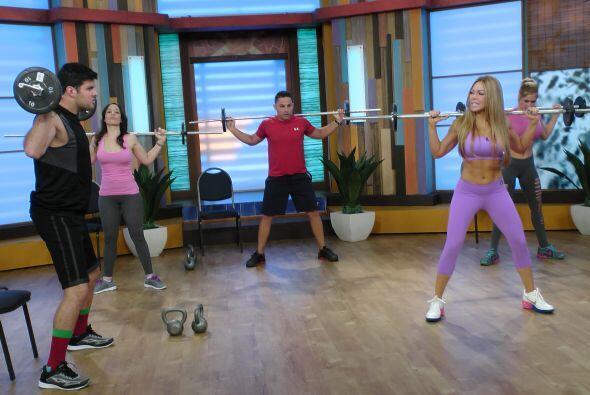 Paul estaba decidido y con una increíble energía durante los ejercicios,...